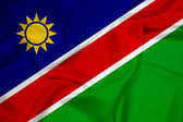 Waving Namibia Flag — Stock Photo