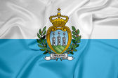 Waving San Marino Flag — Stock Photo