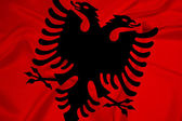 Waving Albania Flag — Stock Photo