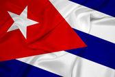 Kuba Flagge winken — Stockfoto