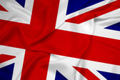 Waving United Kingdom Flag — Stockfoto