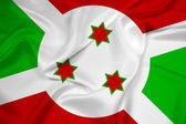 Waving Burundi Flag — Stock Photo