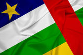 Waving Central African Republic Flag — Stock Photo