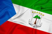 Waving Equatorial Guinea Flag — Stock Photo