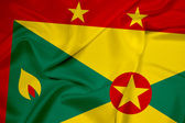 Waving Grenada Flag — Stock Photo