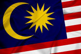 Waving Malaysia Flag — Stock Photo