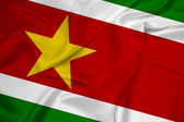Waving Suriname Flag — Stock Photo