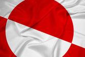 Waving Greenland Flag — Stock Photo