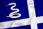 Waving Martinique Flag — Stock Photo