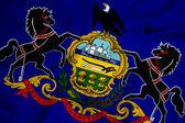 Ondeando la bandera del estado de pennsylvania — Foto de Stock