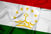 Waving Tajikistan Flag — Stock Photo