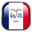 Iowa State Flag square glossy button — Stock Photo #50900175