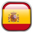 Spain Flag square glossy button — Stock Photo #50900577