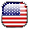 USA Flag square glossy button — Stock Photo #50900755