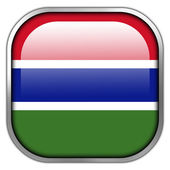 Gambia Flag square glossy button — Stockfoto