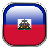 Haiti Flag square glossy button — Stock Photo