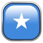 Somalia Flag square glossy button — Stock Photo