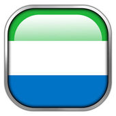 Sierra Leone Flag square glossy button — Stock Photo