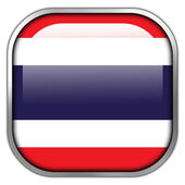 Thailand Flag square glossy button — Stockfoto