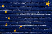 Alaska State Flag painted on brick wall — Stock Photo