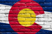 Colorado State Flag painted on brick wall — Stock Photo