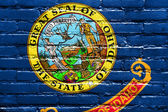Idaho State Flag painted on brick wall — 图库照片