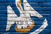 Louisiana State Flag painted on brick wall — Stock Photo