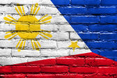 Philippines Flag painted on brick wall — Stock Photo