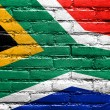 South Africa Flag painted on brick wall — Stock Photo #51665737