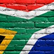 South Africa Flag painted on brick wall — Stock Photo #51665745