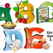 Kitchen Alphabet A thru E — Stock Vector #12097383