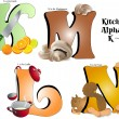 Постер, плакат: Kitchen Alphabet K thru N