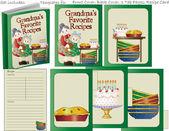 Grandmas Favorite Recipe Book Template — Stock Vector