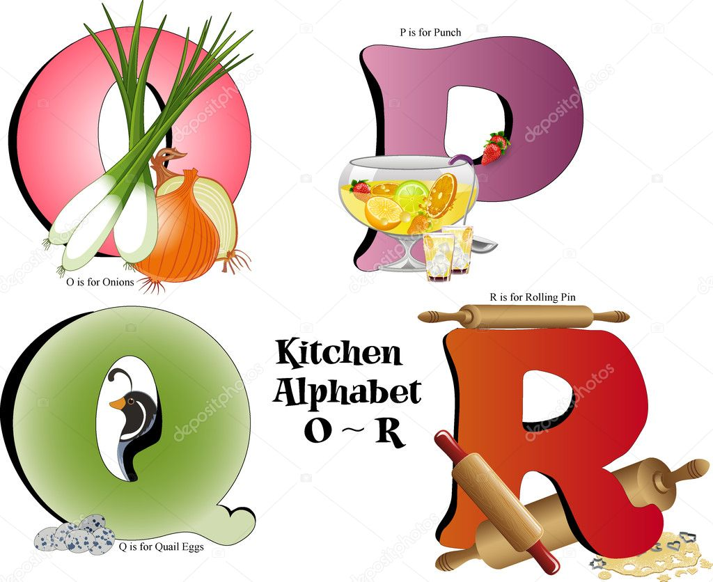 cuisine alphabet o thru r image vectorielle candywrap 12097515. Black Bedroom Furniture Sets. Home Design Ideas