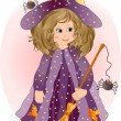 Stock Vector: Pretty Little Witch