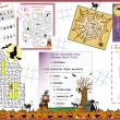 Activity Table Placemat - Halloween 1 — Imagen vectorial