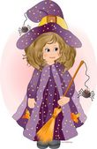 Pretty Little Witch — Stock Vector