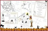 Activity Table Placemat - Halloween 2 — Stock Vector