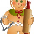 Gingerbread Cook 003 — Stock Vector