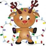 Reindeer Lights — Stock Vector