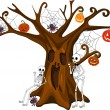 Royalty-Free Stock Vector Image: Scared Stiff Halloween Tree