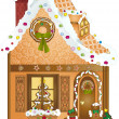 Royalty-Free Stock Vector Image: Gingerbread Village House