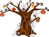 Scared Stiff Halloween Tree — Stock Vector