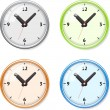 Set of bright clock — Stock Vector
