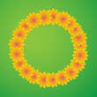 Circle with flowers — Stock Vector