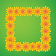 Square with flowers — Imagen vectorial