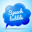 Blue speech bubble — Stock Vector