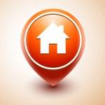 Home Icon Pin Deal — Stock Vector