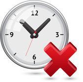 часы с крест символ — Cтоковый вектор