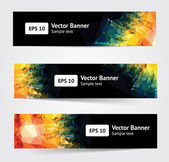 Set of bright banners — Stock Vector